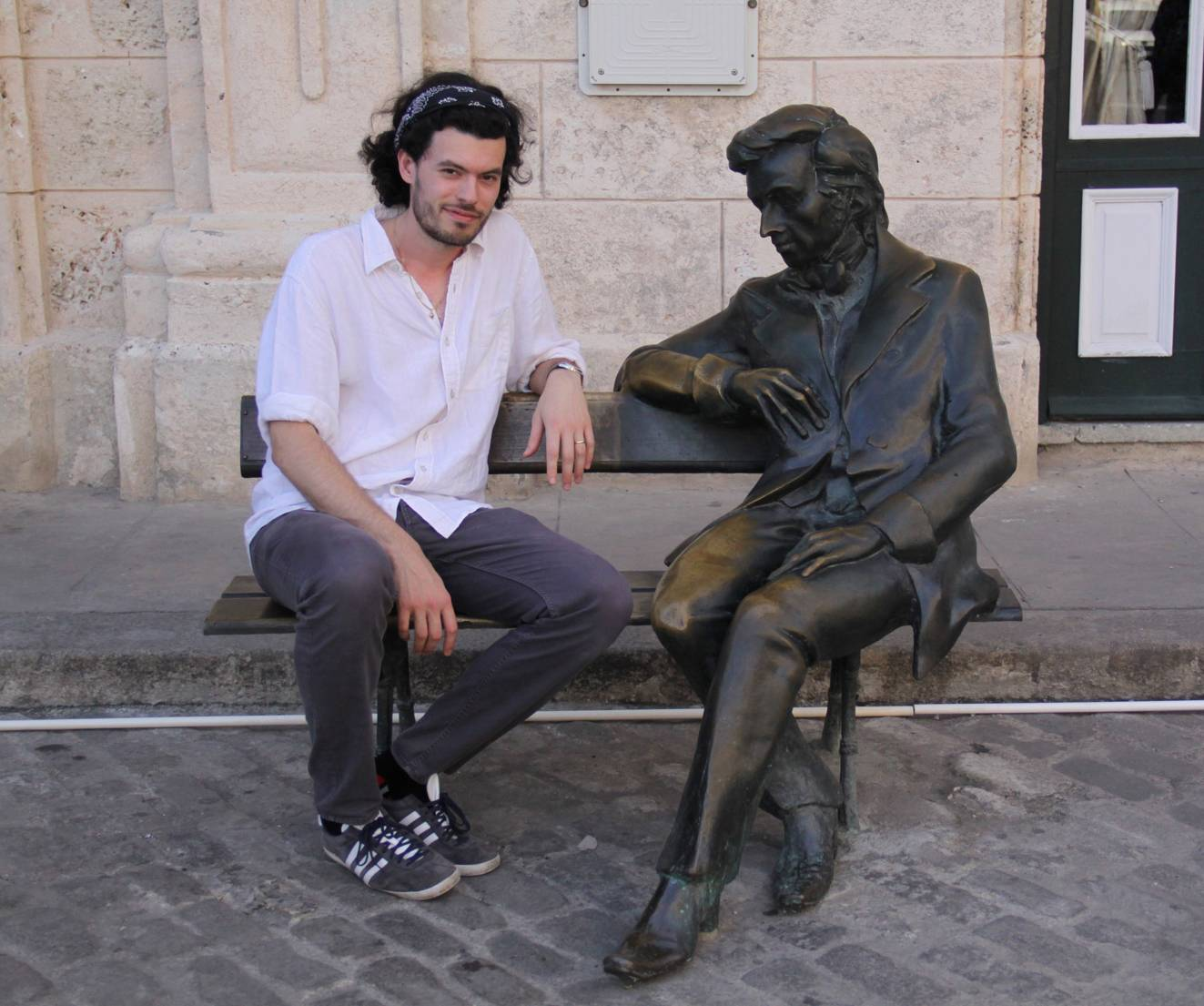 A statue of Chopin in Cuba and I